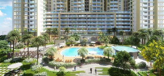 Bể bơi ngoài trời tại chung cư DLC Complex