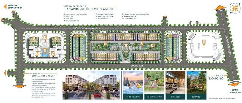 Mặt bằng tổng thể đại đô thị dự án Bình Minh Garden